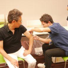 予防接種(>_<;)